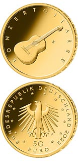 50 euro coin Guitar | Germany 2022