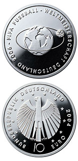 10 euro coin FIFA-Fußball-WM -Weltkugel- | Germany 2004