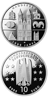 10 euro coin 1200 Jahre Magdeburg | Germany 2005