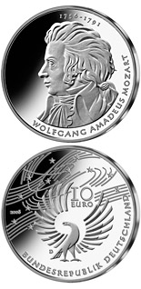 10 euro coin 250. Geburtstag Wolfgang Amadeus Mozart | Germany 2006