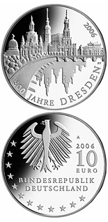 10 euro 800 Jahre Dresden - 2006 - Series: Silver 10 euro coins - Germany