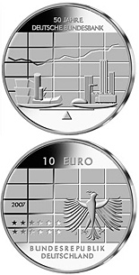 10 euro coin 50 Jahre Deutsche Bundesbank | Germany 2007