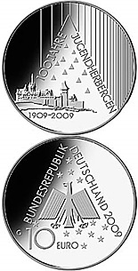 10 euro coin 100 Jahre Deutsches Jugendherbergswerk | Germany 2009