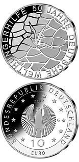 10 euro coin 50 Jahre Welthungerhilfe | Germany 2012