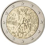 2 euro coin 30 Years of Fall of the Berlin Wall | Germany 2019