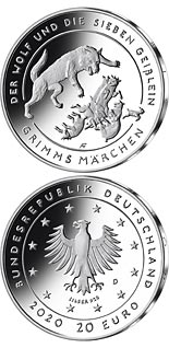 20 euro coin The Wolf and the Seven Young Goats | Germany 2020
