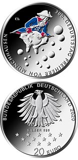 20 euro coin 300th Anniversary of the Birth of Friedrich von Münchhausen | Germany 2020