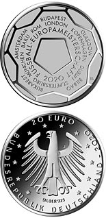 20 euro coin The 2020 UEFA European Football Championship | Germany 2020