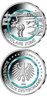 5 euro coin Subpolar Zone | Germany 2020