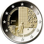 2 euro coin 50 years of the Warschauer Kniefall (Warsaw genuflection) | Germany 2020