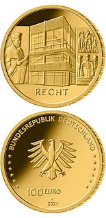 100 euro coin The Law - Federal Constitutional Court | Germany 2021