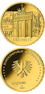 100 euro coin The Freedom - Brandenburg Gate | Germany 2022
