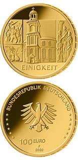 100 euro coin The Unity - St. Paul's Church | Germany 2020