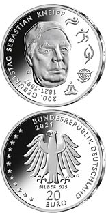 20 euro coin 200th Anniversary of the Birth of Sebastian Kneipp | Germany 2021
