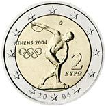 2 euro coin Summer Olympics in Athens 2004 | Greece 2004