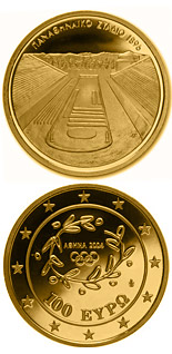 100 euro XXVIII. Summer Olympics 2004 in Athens - Panathenaikon Stadium in Athens - 2003 - Series: Gold euro coins - Greece