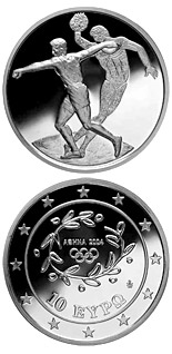 10 euro coin XXVIII. Summer Olympics 2004 in Athens - Discus | Greece 2003