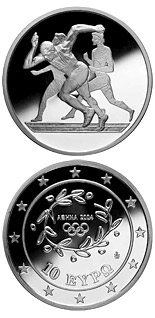 10 euro coin XXVIII. Summer Olympics 2004 in Athens - Sprint | Greece 2003