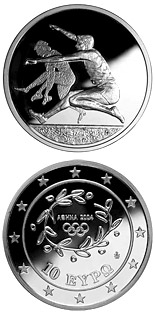 10 euro coin XXVIII. Summer Olympics 2004 in Athens - Long-jump | Greece 2003