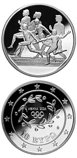 10 euro coin XXVIII. Summer Olympics 2004 in Athens - Relay race | Greece 2003
