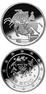 10 euro coin XXVIII. Summer Olympics 2004 in Athens - Riding / Show jumper | Greece 2003