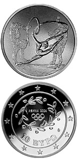 10 euro coin XXVIII. Summer Olympics 2004 in Athens - Rhythmic gymnastics / Gymnasts | Greece 2003