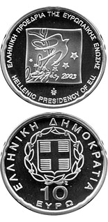 10 euro coin EU Presidency | Greece 2003