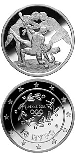 10 euro coin XXVIII. Summer Olympics 2004 in Athens - Wrestling | Greece 2004