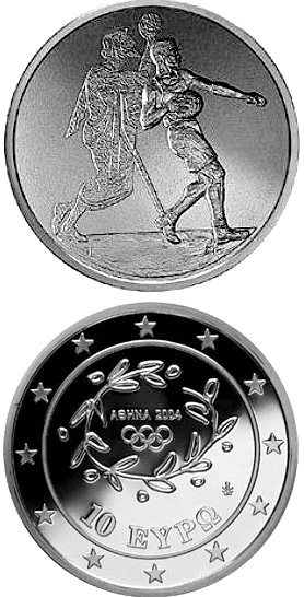 Image of a coin 10 euro | Greece | XXVIII. Summer Olympics 2004 in Athens - Handball | 2004