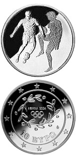 10 euro coin XXVIII. Summer Olympics 2004 in Athens - Football | Greece 2004
