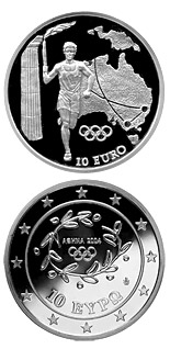 10 euro coin Torch Relay Australia - XXVIII. Summer Olympics 2004 in Athens | Greece 2004