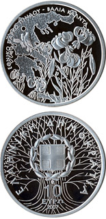 10 euro coin National park von Pindos - Wild flowers and birds | Greece 2007