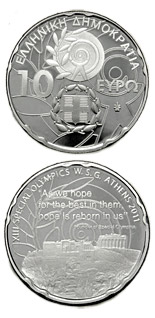 10 euro coin XIII Special Olympics World Summer Games Athens 2011 - Acropolis | Greece 2011