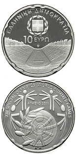 10 euro coin XIII Special Olympics World Summer Games Athens 2011 - Panathenaiko Stadium  | Greece 2011