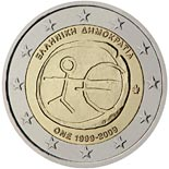 2 euro coin 10th Anniversary of the Introduction of the Euro | Greece 2009