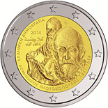 2 euro 400 years since the Death of Domenikos Theotokopoulos - 2014 - Series: Commemorative 2 euro coins - Greece