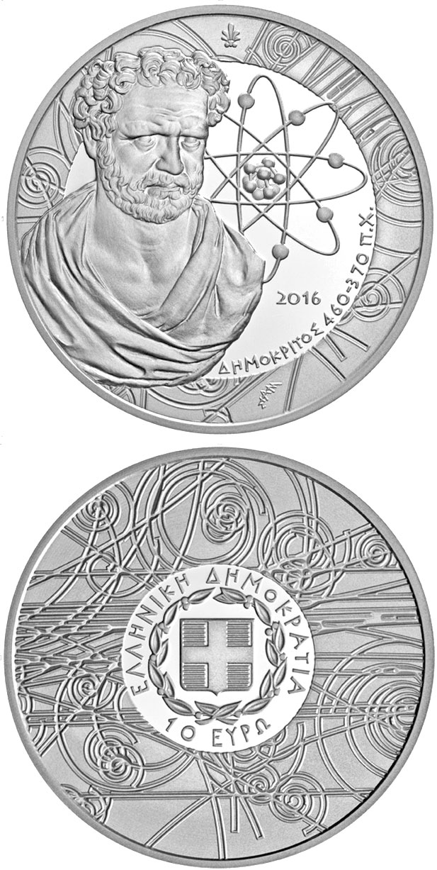 10 euro Greek Culture–Philosophers: Demokritos - 2016 - Series: Silver 10 euro coins - Greece