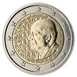 2 euro coin 120 years from the birth of Dimitri Mitropoulos  | Greece 2016