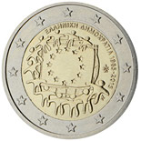 2 euro coin The 30th anniversary of the EU flag | Greece 2015