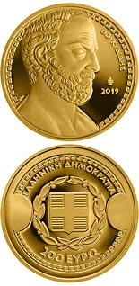 200 euro coin Greek Culture - Historians - Thucydides | Greece 2019