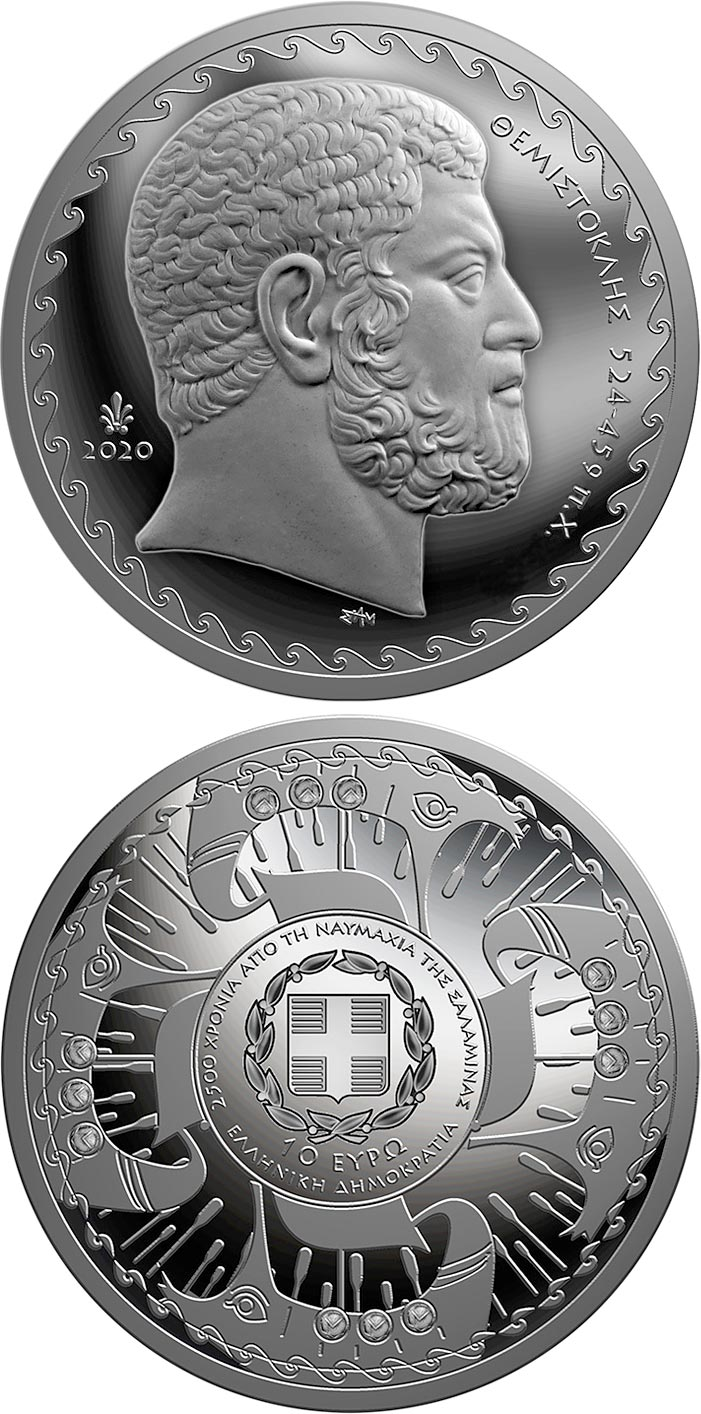 Image of 10 euro coin - 2,500 years since the battle
