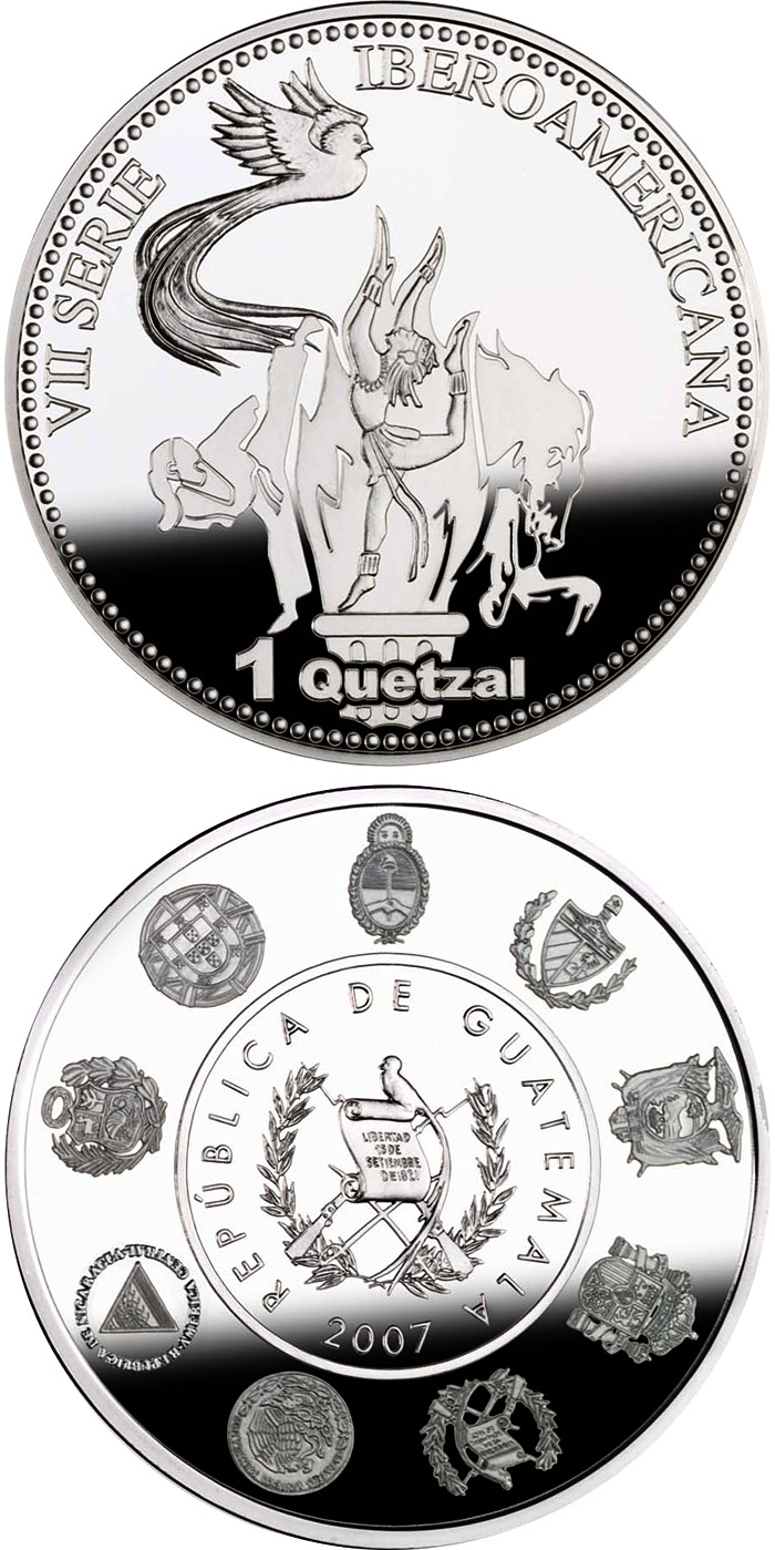 Image of a coin 1 quetzal | Guatemala | The Olympic Games – Tae kwon do, Equestrian events and Gymnastics | 2007