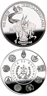 1 quetzal coin The Olympic Games – Tae kwon do, Equestrian events and Gymnastics | Guatemala 2007