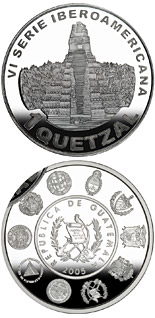 1 quetzal coin Architecture and Monuments – Temple of the Great Jaguar | Guatemala 2005
