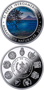 1 quetzal coin Wonders of nature - Lake Atitlan | Guatemala 2017