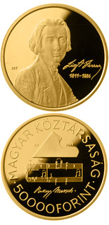 50000 forint coin 200th anniversary of the birth of Ferenc Liszt  | Hungary 2011