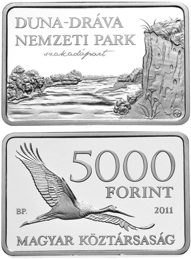 Image of a coin 5000 forint | Hungary | Danube-Drava National Park  | 2011