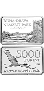 5000 forint coin Danube-Drava National Park  | Hungary 2011