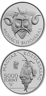 5000 forint The Busó Festivities at Mohács, BU - 2011 - Series: Silver forint coins - Hungary