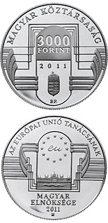 5000 forint coin Hungarian Presidency of the Council of the European Union  | Hungary 2011